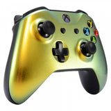 Gold and Green Chameleon Front Housing Shell Faceplate for Microsoft Xbox One X & One S Controller - SXOFP03