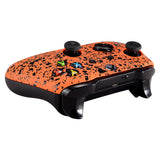 Custom Textured Orange Front Housing Shell with Side Rails for Xbox One S X Game Controller - SXOFP06+SXOJ0113