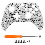 Textured White 3D Splashing Non-slip Front Housing Shell Faceplate for Xbox One S & Xbox One X Controller - SXOFP07