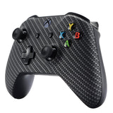 Black Silver Carbon Fiber Faceplate Cover for Xbox One Wireless Controller 1708, Soft Touch Custom Front Housing Shell Case for Xbox One X & One S Controller - Controller NOT Included - SXOFS05