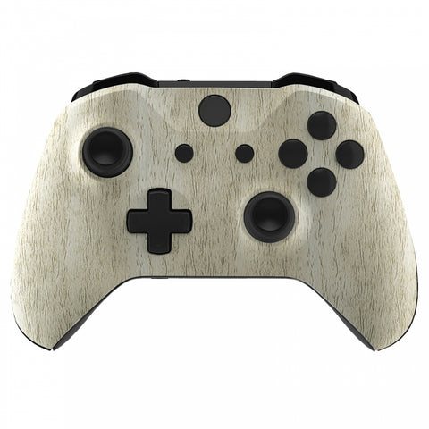 Pine Wood Grain Patterned Front Housing Shell Faceplate for Xbox One S & Xbox One X Controller Model 1708 - Controller NOT Included - SXOFS10