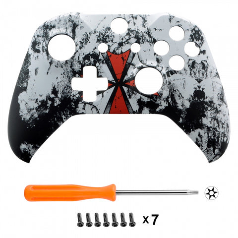 Soft Touch Grip Biohazard Front Housing Shell Faceplate for Microsoft Xbox One X & One S Controller - SXOFT06X