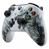 Soft Touch Grip Wolf Soul Front Housing Shell Faceplate for Microsoft Xbox One X & One S Controller - SXOFT07X