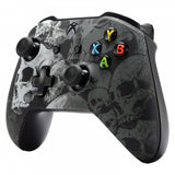 Lonely Skull Faceplate Soft Touch Front Housing Shell Comfortable Soft Grip Replacement Kit for Xbox One X & One S Controller - SXOFT08X
