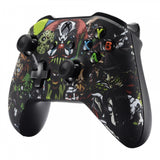 Scary Party Bomb Faceplate Cover Soft Touch Front Housing Shell Comfortable Soft Grip Replacement Kit for Microsoft Xbox One X & One S Controller - SXOFT11X