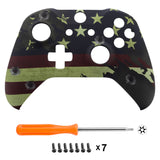 US Flag The Star Patterned Soft Touch Front Shell for Xbox One X & One S Game Controller - SXOFT16X