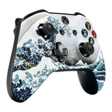 The Great Wave Patterned Soft Touch Front Shell for  Xbox One X & One S  Remote Controller - SXOFT17X
