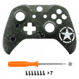 WWII US Army Overlord Faceplate Cover Soft Touch Top Front Shell Comfortable Soft Grip Replacement Kit for Xbox One X & One S Controller - SXOFT21X