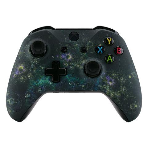 Dark Chaos Nebula Galaxy Patterned Front Housing Shell Case, Faceplate Cover Replacement Kit for Xbox One X & One S Controller (Model 1708) - SXOFT40X