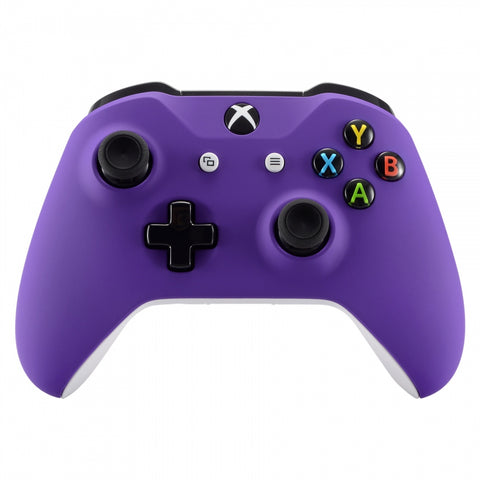 Soft Touch Grip Purple Front Housing Shell Faceplate for Microsoft Xbox One X & One S Controller - SXOFX05