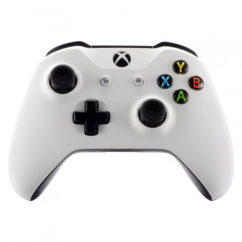 Soft Touch Grip White Front Housing Shell Faceplate for Microsoft Xbox One X & One S Controller - SXOFX06
