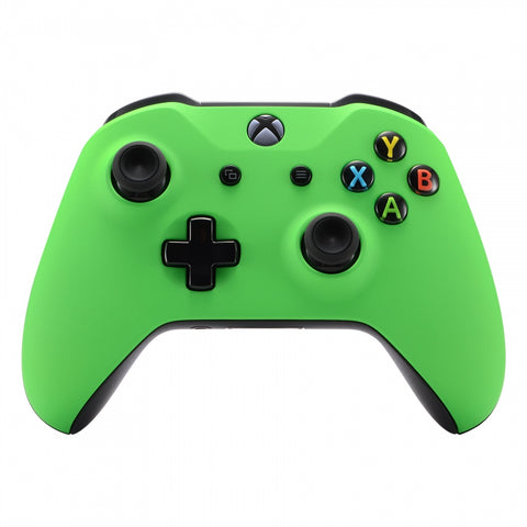 Custom Green Soft Touch Replacement Custom Housing Shell for Xbox One X & One S Controller - SXOFX08
