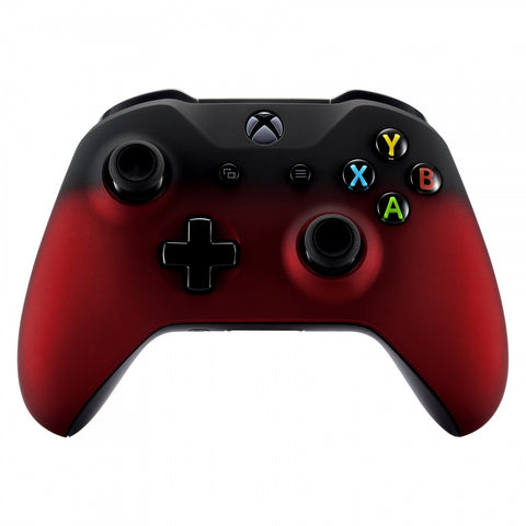 Shadow Red Soft Touch Grip Front Housing Shell Faceplate for Microsoft Xbox One S & Xbox One X Controller - SXOFX10