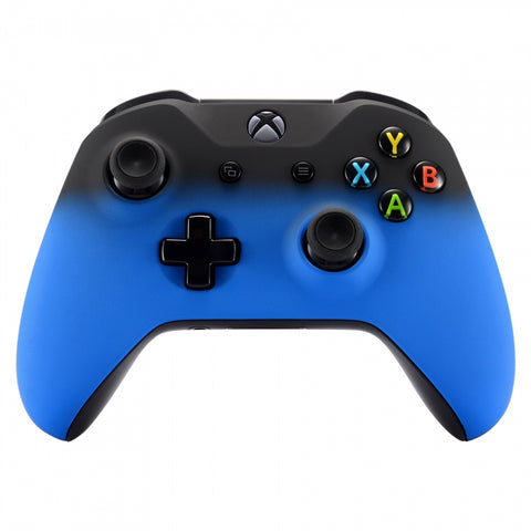 Shadow Blue Soft Touch Grip Front Housing Shell Faceplate for Microsoft Xbox One S & Xbox One X Controller - SXOFX13