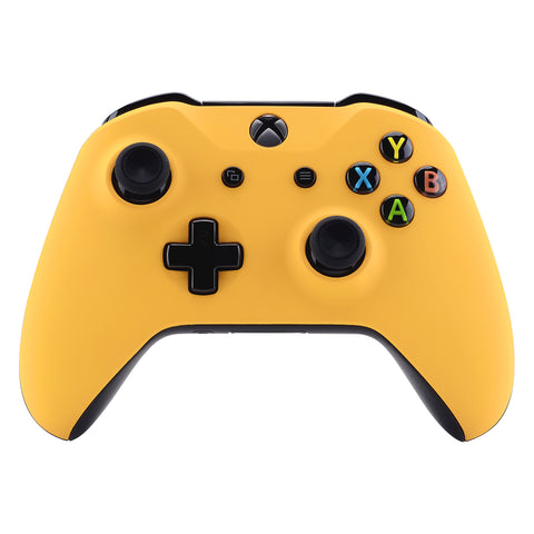 Caution Yellow Soft Touch Faceplate Cover Front Housing Shell Case Replacement Kit for Xbox One S & Xbox One X Controller (Model 1708)  - SXOFX16