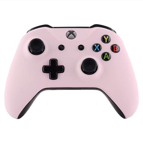 Sakura Pink Soft Touch Faceplate Cover Front Housing Shell Case Replacement Kit for Xbox One S & Xbox One X Controller (Model 1708)  - SXOFX17