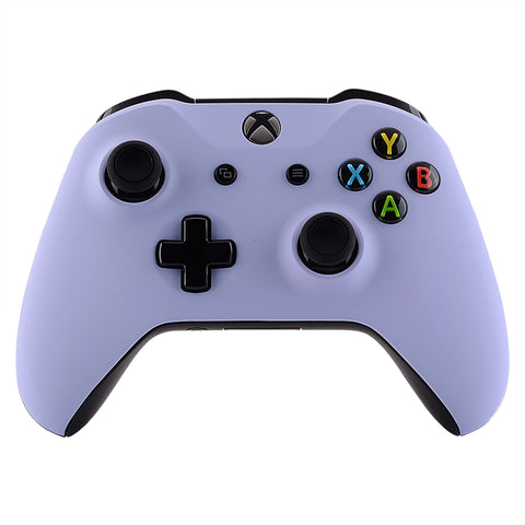 Light Violet Soft Touch Faceplate Cover Front Housing Shell Case Replacement Kit for Xbox One S & Xbox One X Controller (Model 1708)  - SXOFX20