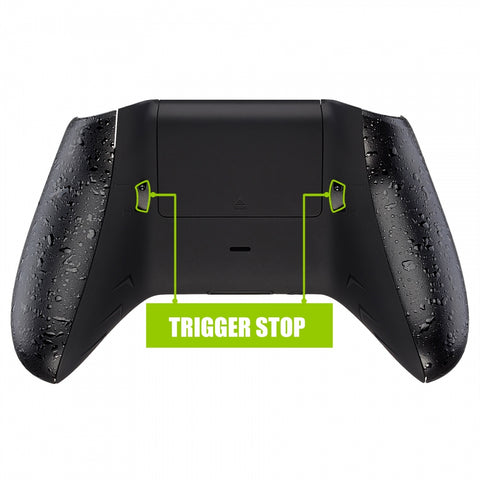 FlashShot Trigger Stop Bottom Shell Kit for Xbox One S & One X Controller, Redesigned Back Shell & Textured Black Handle Grips & Dual Trigger Locks for Xbox One S X Controller Model 1708 - X1GZ001