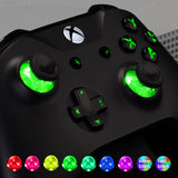 Multi-Colors Luminated D-pad Thumbsticks Start Back ABXY Buttons (DTF) LED Kit for Xbox One Standard, Xbox One S X Controller 7 Colors 9 Modes Button Control with Classical Symbols Buttons - X1LED02