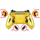Chrome Gold Lofty Programable Remap & Trigger Stop Kit, Redesigned Back Shell & Side Rails & Back Buttons & Trigger Lock for Xbox One Wireless Controller 1708 - X1RM006