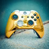 New Custom Gold Remote Controller Top Shell for Xbox One Elite Model 1698-XOED001
