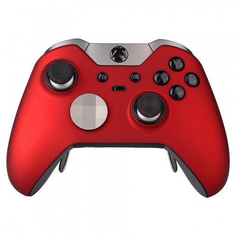 Soft Touch Red Custom Front Housing Shell for Xbox One Elite Controller Model 1698-XOEP001