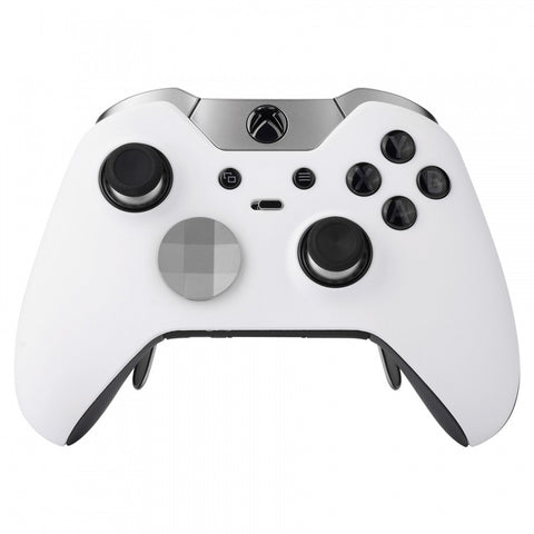 Soft Touch White Custom Front Housing Shell for Xbox One Elite Controller Model 1698-XOEP002