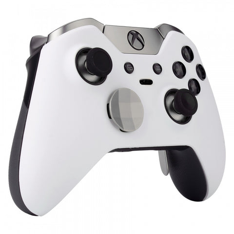 Soft Touch White Custom Front Housing Shell For Xbox One Elite Controller XOEP002