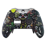 Scary Party Patterned Faceplate Cover, Soft Touch Front Housing Shell Case, Comfortable Soft Grip Replacement Kit for Xbox One Elite Controller Model 1698 - XOET006M