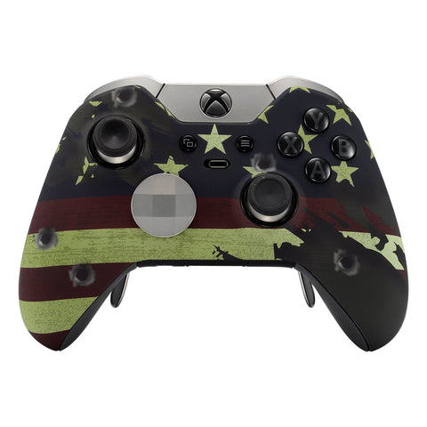 US Flag Front Shell Faceplates Cover Repair Parts for Xbox One Elite Controller Model 1698 - XOET007