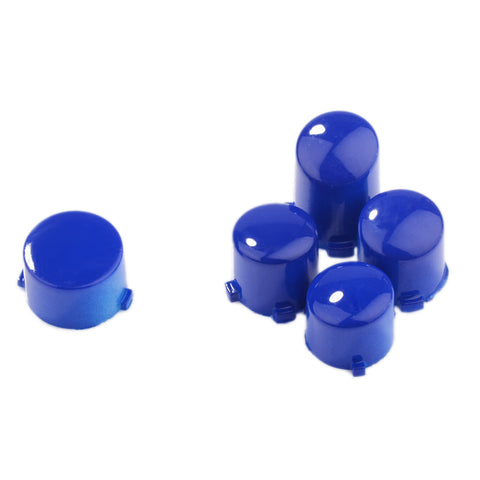 Polished Blue ABXY Guide Buttons Bullets Set For Xbox One Controller - XOJ0414