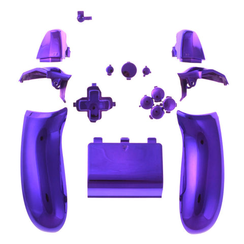 Chrome Purple Full Set Buttons kit Left Right Back Panel For Xbox One Controller - XOJ0505