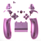Chrome Pink Full Set Buttons kit Left Right Back Panel For Xbox One Controller - XOJ0507