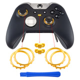 Custom Matte Chrome Gold Design Button Accent Rings for Xbox One Elite Controller - XOJ130016GC