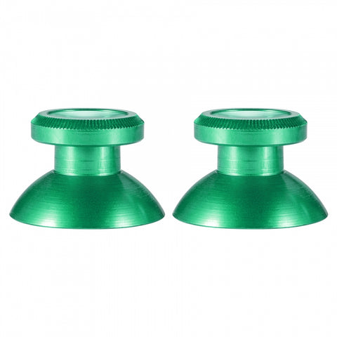 Custom Metal Green Thumbsticks Thumb Sticks Controller Analogue for Xbox One PS4 Gold - XOJ1406