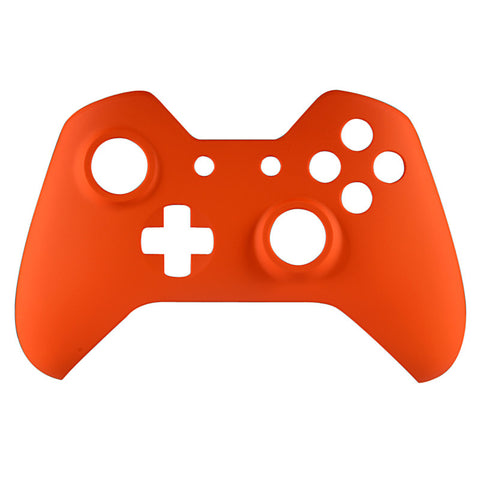 Soft Touch Orange Face Plate Front Shell Custom Kits for Xbox One Controller - XOMSF06