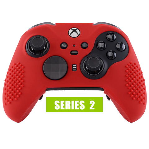Red Soft Anti-Slip Silicone Cover Skins, Controller Protective Case for New Xbox One Elite Series 2 - XOQ031