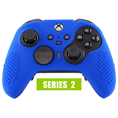 Blue Soft Anti-Slip Silicone Cover Skins, Controller Protective Case for New Xbox One Elite Series 2 - XOQ033