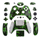 Green Skull Patterned Full Shell with Buttons Mod Kits for Xbox One Controller - XOS033