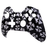 White Ghost Face Plate Front Shell Custom Kits for Xbox One Controller - XOSF010