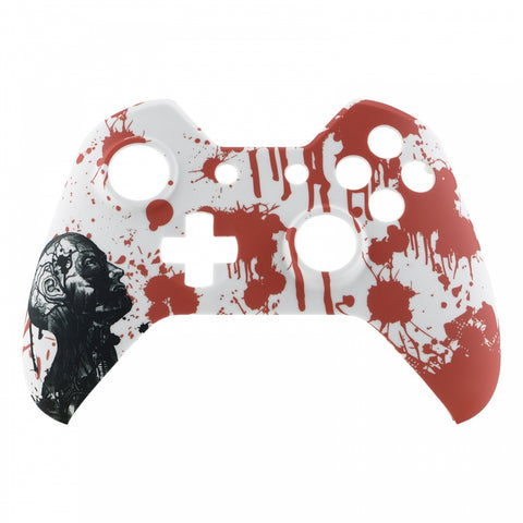 Blood Zombie Face Plate Front Shell Custom Kits for Xbox One Controller - XOT007