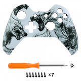 Wolf Face Plate Front Shell Custom Kits for Xbox One Controller - XOT017M
