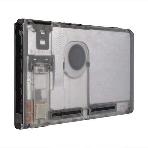 Transparent Clear Console Back Plate DIY Replacement Housing Shell Case for Nintendo Switch Console with Kickstand ¡§C JoyCon Shell NOT Included - ZM501
