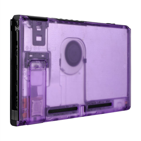 Clear Atomic Purple Console Back Plate DIY Replacement Housing Shell Case for Nintendo Switch Console with Kickstand ¡§C JoyCon Shell NOT Included - ZM505