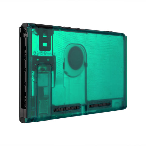Emerald Green Console Back Plate DIY Replacement Housing Shell Case for Nintendo Switch Console with Kickstand-JoyCon Shell NOT Included - ZM508
