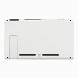 Soft Touch Grip White Console Back Plate DIY Replacement Housing Shell Case for Nintendo Switch Console with Kickstand - JoyCon Shell NOT Included - ZP303
