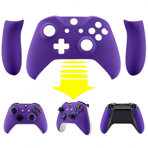 Soft Touch Purple Upper Housing Shell With Side Rails Panel Replacement Part for Xbox One S /One X Controller - ZSXOFX05