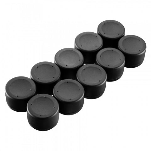 Black Pack of 10 Silicone Thumbsticks Caps for PlayStation 4/ PS3/ PS4 Slim/ PS4 Pro Controller-ZXBJ12211