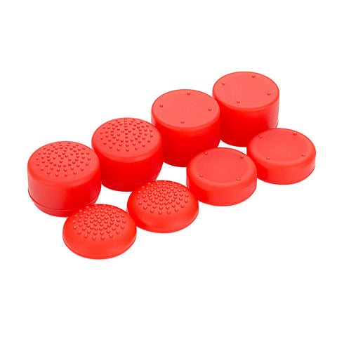 8 Red Silicone Rubber Precision Platporm Raised Analog Sticks Thumb Grips for PlayStation 4 PS4 PS4 Slim PS4 Pro Thumbsticks -ZXBJ1224