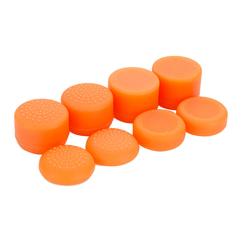 8 Orange Silicone Rubber Precision Platporm Raised Analog Sticks Thumb Grips for PlayStation 4 PS4 PS4 Slim PS4 Pro Thumbsticks - ZXBJ1228